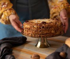tort-cu-dovleac-si-crema-de-branza Gluten Free Banana Bread, Pavlova, Desserts, Banana, Tailgate Desserts, Deserts, Postres, Dessert, Plated Desserts