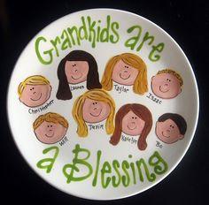 Handpainted Platter for Grandparents  Grandma's by cutiepatooties1, $36.50