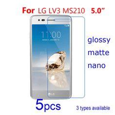 5pcs Clear/matte/Nano Anti Explosion Mobile Guard Protective Films for LG LV3 MS210 Aristo/LV5/Spray 402LG Screen Protector Film #Affiliate