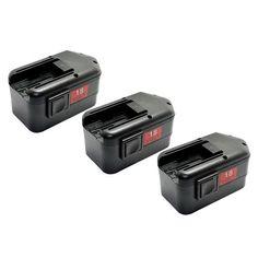 Replacement 2000mAh Battery for Milwaukee 0903-28 / LokTor P 18 TXC Power Tools (3 Pk)