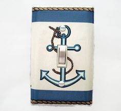 Anchor Switchplate Cover  Nautical Anchor by cathyscraftycovers