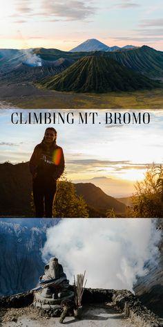 Climbing Mt. Bromo volcano in Indonesia