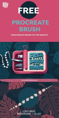 Every month we share our Free brush of the month. This February we are feeling in love so we decided to give 2 brushes- Leafy Magic Background & Leafy Magic Filler! So go create some jungly magic!