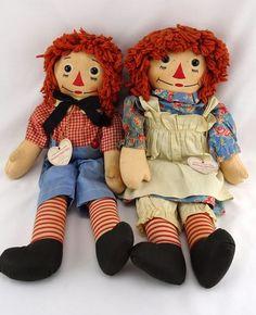 Vintage Raggedy Ann and Andy Dolls Johnny Gruelle's Own Georgene Novelties #Dolls #GeorgeneNovelties