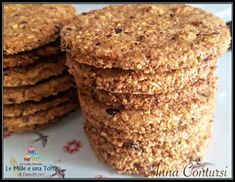 Granola, New Recipes, Cookie Recipes, Healthy Desserts, Healthy Recipes, Biscotti Cookies, Cake & Co, Vegan Gluten Free, Nutella
