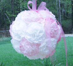 How To Make A Coffee Filter Flower Pomander Ball, with instructions