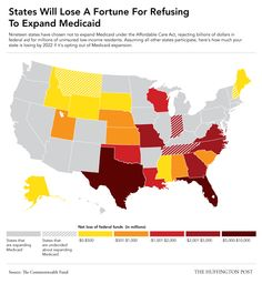 Here's How Much Your State Is Losing If It Didn't Expand Medicaid