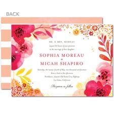 Lively Bouquet Wedding Cards. www.weddingpaperdivas.com