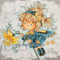 Used Copic Colors: skin, E50 E51 E11 E13  hair, E30 E33 E35 E57 YR31 clothes, B52 BG75 BG78 BV29 flower, Y11 Y13 Y15 Y17 Y38 leaves, G94 G99