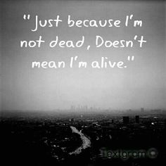 I exist. I merely breath. It's a far cry from living.