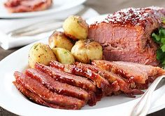 Thinking ahead to St. Patty's Day- Whiskey Glazed Corned Beef
