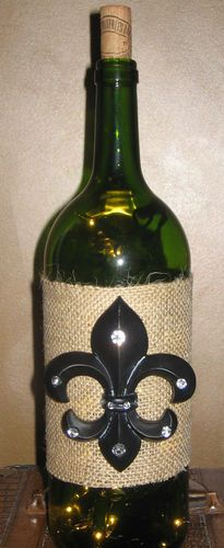 Lighted Wine Bottle Fleur de Lis Tuscan French Country Home Decor Gift Lamp | eBay  $18.99/$7.37 shipping