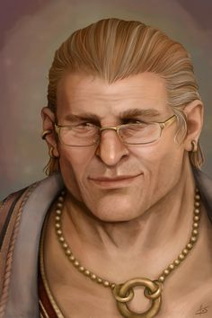 m Dwarf Cleric Medium Armor Cloak Necklace Glasses portrait male Older Varric Tethras by aliceazzo lg & xlg (saved) Dragon Age Memes, Dragon Age 2, Dragon Age Origins, Varric Tethras, Fantasy Portraits, Dragon Age Inquisition, Cleric, Grey Warden, Dungeons And Dragons