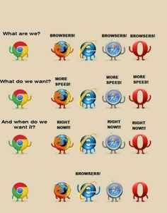 What are we? Browsers!