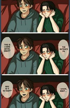 Eren & Levi Did anyone notice their sweatshirts match each others eyes?