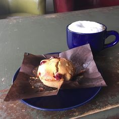Dry hazelnut cappuccino and tart cranberry orange muffin.  . . . . . #rva #richmond #stircrazy #muffin #love #goodmorning #instagood #morning #happy #coffeetime #food #breakfast #photooftheday #coffeelover #cafe #yummy #instadaily #coffeeaddict #healthy #caffeine #delicious #picoftheday #foodie #beautiful #life #fitness #espresso #work #instagram #coffeeshop Follow @drowsymama on Instagram for more great food pics.