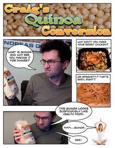 """Craig's Quinoa Conversion"", as told by Amateur Gourmet..."