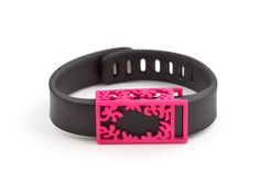 Pink bytten Matisse slide for Fitbit Flex    Easily transform your Fitbit Flex into a beyond-chic bracelet. It slides on easily and enhances the appearance of your Flex while the tracker continues to do what it does best.  This jewelry accessory elegantly incorporates open spaces for the touchpad and display, so you can easily track your progress while looking fabulous.    Available for sale on Shapeways.com - as featured in Tech Accessories Gift Guide  Fine more at bytten.com
