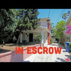 IN ESCROW! Duplex in Hollywood. 1844 Van Ness Ave. Los Angeles. Great investment property. Contact me for all your Real Estate Needs.