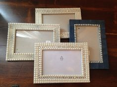 Decorated picture frames with gems, duck tap and stamps - gift idea?