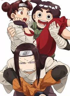 Rock Lee , Neji e Tenten Anime Naruto, Naruto Fan Art, Naruto Comic, Naruto Cute, Naruto And Sasuke, Gaara, Otaku Anime, Lee Naruto, Naruto Uzumaki Shippuden