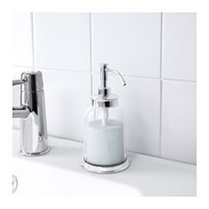 IKEA - BALUNGEN, Soap dispenser, , Easy to refill as the dispenser has a wide opening.Small, hidden plastic feet at the base keep the soap dispenser in place, while protecting your sink from scratches.