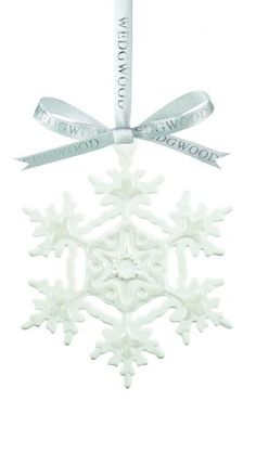 Wedgwood White Snowflake Christmas Ornament >>> More info could be found at the image url.