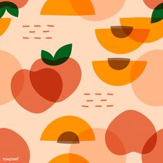 Your walls will thank you when you dress them up with the Peachy Keen Pattern wallpaper! Fresh, ripe peaches fill this modern design. The warm tones of this cute yet bold pattern will brighten up your room in an instant. Free US Shipping! Food Patterns, Textures Patterns, Print Patterns, Fruit Illustration, Pattern Illustration, Vector Pattern, Pattern Design, Design Design, Modern Design