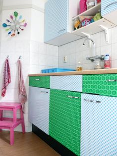Verwonderlijk 35 Best plakfolie images | Oil cloth, Funky kitchen, Backdrops FN-74