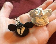 Disney wedding Mickey and Minnie bride and groom ear hat charms