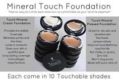 Mineral Touch Foundation - all natural ingredients