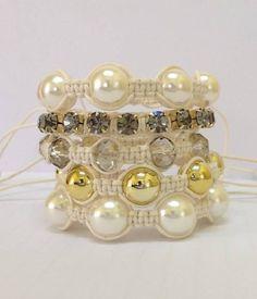 kit bracelet shamballa black diamond