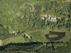 Drumtochty Castle from above