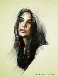 Desert Rose  © by Mirror Walkers - Digital drawing and painting - www.mirrorwalkers.it