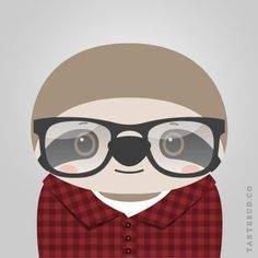 """Sloan Sloth from """"What Stylish Animal Are You?"""" online game from Tastebud. Illustration by Daniel Knispel Animals For Kids, Baby Animals, Cute Animals, Three Toed Sloth, Baby Sloth, Love Illustration, Spirit Animal, Art Drawings, Artsy"""