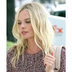 Kate Bosworth Returns To LA With Beach Blonde Hair! Do YOU Like It?... ❤ liked on Polyvore