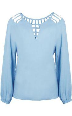 Blusa Daslu tiras - azul