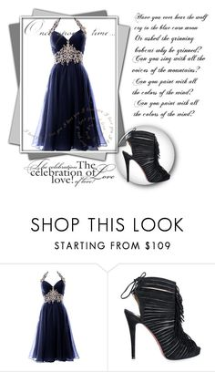 """Party style: blue and Black"" by wonderfullyawesome ❤ liked on Polyvore featuring Christian Louboutin and Once Upon a Time"