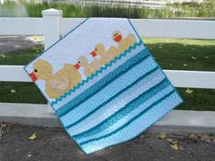 baby boy quilt patterns | The darling new Lucky Ducks quilt pattern is here! Let these cute,