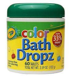 Play Visions Crayola Bath Dropz 3.59 oz 60 Tablets Play Visions http://www.amazon.com/dp/B00009KWTB/ref=cm_sw_r_pi_dp_mbDQub1R29VDG