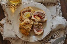 Cuchillito y Tenedor: Pollo relleno de huevo y jamón. Receta.