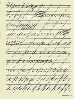 Copperplate Practice Sheet 1 by carmelscribe, via Flickr