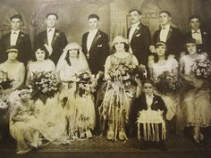 wedding 1924. Charles and Rose by krobles8930, via Flickr