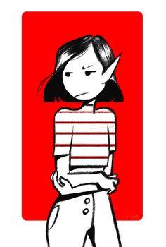 I really like Marceline with short hair
