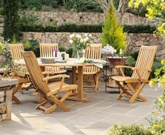 """Grade-A Teak Wood Luxurious Dining Set Collections (WR1): 7 pc - 60"""" Round Table And 6 Reclining Arm Chairs [**Click To See More Choices...] by TeakStation. $1899.99. Reclining & Fully assembled. Dimension: 19"""" W x 28"""" L x 40.5"""" H (Dining Posn). ADD SUNBRELLA FABRIC CUSHIONS BY SEARCHING """"Teakstation Dining Cushion"""" ON AMAZON, CUSTOM MADE FOR THESE STYLE CHAIRS. Round table has a 2"""" Umbrella hole in the middle of the table.. Table comes with 2"""" umbrella hole. Dimension: 60"""" Round..."""