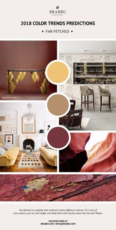 Pantone color trends 2018 - for guest room