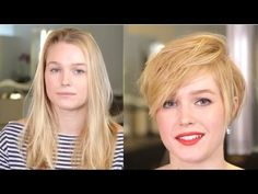 Thinking about going short? Get inspired to chop those locks by watching this sexy short hair transformation. Reuben from Sally Hershberger Downtown does thi...