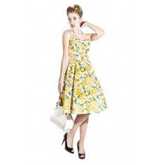 Robe Rockabilly Retro Pin-Up 50's Fairy Summer Bouquet