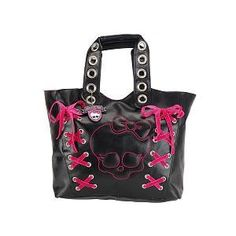 Lace up Skull Pink Purse