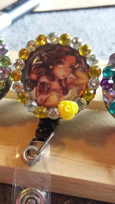Sexy Belle I.d badge reel by mommymisfit on Etsy, $10.00